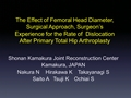 The Effect Of Femoral Head Diameter; Surgical Approach, Surgeon's Experience For The Rate Of Dislocation After Primary Total Hip Arthroplasty