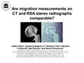 Are Migration Measurements On CT And RSA Stereo Radiographs Comparable?