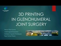 3D Printing; A New Tool For Planning Surgery In Glenohumeral Joint