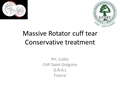 Conservative Treatment Options In Massive Rotator Cuff Tears