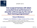 Can Surgical Trainees Still Attain Consultant Level Performance By The End Of Their Training Programmes: A Legacy Of The EWTD