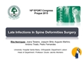 Late Infections In Spine Deformities Surgery