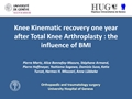 Knee Kinematic Recovery One Year After Total Knee Arthroplasties: The Influence Of BMI