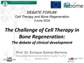 The Challenge Of Cell Therapy In Bone Regeneration