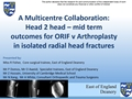 Mid-Term Outcomes Of Surgical Management Of Isolated Radial Head Fractures: A Multi-Centre Collaboration