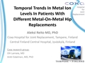 Temporal Trends In Metal Ion Levels In Patients With Different Metal-On-Metal Hip Replacements