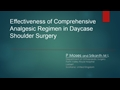 Effectiveness Of Comprehensive Analgesic Regimen In Daycase Shoulder Surgery