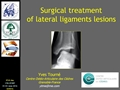 Surgical Treatment Of Lateral Ligaments Lesions