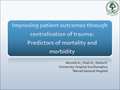 Improving Patient Outcomes Through Centralisation Of Trauma In The UK: A Regional Study From A Level 1 Major Trauma Centre
