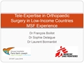 Telemedicine Support For Field Surgical Activity