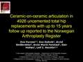 Ceramic-On-Ceramic Articulation In 4926 Uncemented Total Hip Replacements With Up To 15 Years Follow Up Reported To The Norwegian Arthroplasty Register