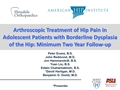 Arthroscopic Treatment Of Hip Instability In The Pediatric Population: Clinical Outcomes With Minimum Two-Year Follow-Up