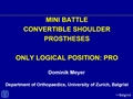 Mini Battle: Convertible Shoulder Systems - Pros