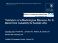 Validation Of A Radiological Decision Aid To Determine Suitability For Medial Unicompartmental Knee Arthroplasty