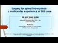 Surgery For Spinal Tuberculosis: A Multi-Centre Experience Of 582 Case