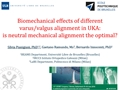 Biomechanical Effects Of Different Varus/Valgus Alignment In UKA: Is Neutral Mechanical Alignment The Optimal Or Is 3° Varus A Better Alternative?
