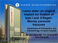 Clinical Efficacy Of Lasso Plate Treatment For Type I Regan-Morrey Ulnar Coronoid Fractures