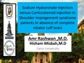 Sodium Hyaluronate Injection Versus Corticosteroid Injection In Shoulder Impingement Syndrome Patients In Absence Of Complete Rotator Cuff Tears