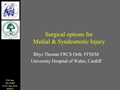 Surgical Options For Medial And Syndesmotic Ligaments Lesions