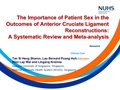 The Importance Of Patient Sex In The Outcomes Of Anterior Cruciate Ligament Reconstructions: A Systematic Review And Meta-Analysis