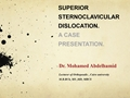 Surgical Managment Of Superior Dislocation Of Sternoclavicular Joint