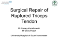 Surgical Repair Of Ruptured Triceps Tendon