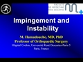 Impingement, Subluxation And Instability