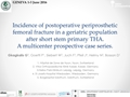 Incidence Of Post-Operative Periprosthetic Femoral Fracture In A Geriatric Population After Short Stem Cementless Primary THA. A Multicentre Prospective Case Series
