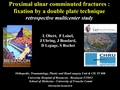 Proximal Ulnar Comminuted Fractures: Fixation By A Double Plate Technique: A Prospective Multi-Centre Study