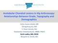 Acetabular Chondral Lesions In Hip Arthroscopy: Relationships Between Grade, Topography And Demographics