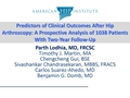 Predictors Of Clinical Outcomes After Hip Arthroscopy: A Prospective Analysis Of 1038 Patients With Two-Year Follow-Up