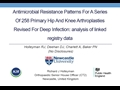 Antimicrobial Resistance Patterns For A Series Of 258 Primary Hip And Knee Arthroplasties Revised For Deep Infection: Analysis Of Linked Registry Data