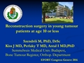 Reconstruction Surgery In Young Tumour Patients At Age 10 Or Less