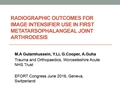 Radiographic Outcomes For Image Intensifier Use In First Metatarsophalangeal Joint Arthrodesis