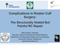 The Structurally Healed But Painful Rotator Cuff Tear Repair