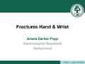 Fractures: Hand & Wrist