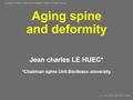 Aging Spine -Deformity