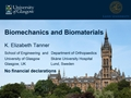 Biomechanics And Biomaterials For Musculoskeletal Applications