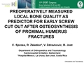 Preoperatively Measured Local Bone Quality As Predictor For Early Failure/Cutout Of Osteosynthesis Of The Proximal Humeral Fractures