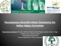 Percutaneous Reverdin-Isham Osteotomy For Hallux Valgus Correction