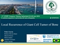 Local Recurrence Of Giant Cell Tumor Of Bone