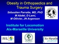 Orthopaedic And Trauma Surgery Of The Knee And Lower Extremities In Obese Patients