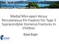 Medial Mini-Open Versus Percutaneous Pin Fixation For Type 3 Supracondylar Fractures In Children