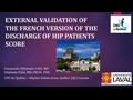 External Validation Of The French Version Of The Discharge Of Hip Fracture Patients Score