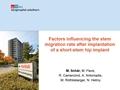 Factors Influencing The Stem Migration Rate After Implantation Of A Short-Stem Hip Implant