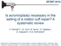 Is Acromioplasty Necessary In The Setting Of Full-Thickness Rotator Cuff Tears? A Systematic Review