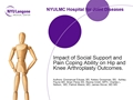 Do Expectations, Social Support And Pain Coping Skills Impact Patient Outcomes After Total Joint Arthroplasty?